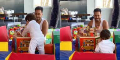 Romeo Santos enternece la cuarentena con un adorable vídeo jugando con su hijo Valentino