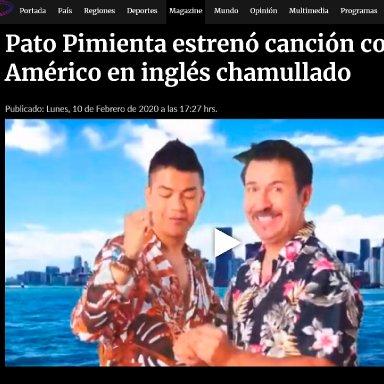 Pato Pimienta estrenó canción con Américo en inglés chamullado